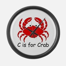 C is for Crab Large Wall Clock