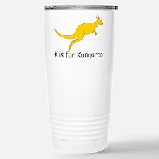K is for Kangaroo Stainless Steel Travel Mug