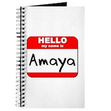 Hello my name is Amaya Journal