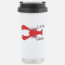 L is for Lobster Stainless Steel Travel Mug