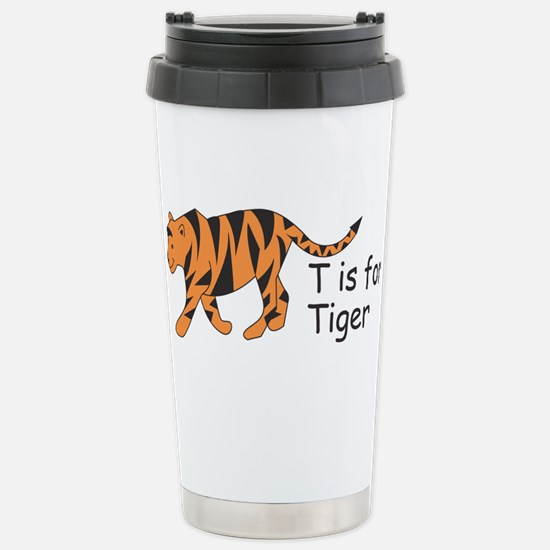 T is for Tiger Stainless Steel Travel Mug