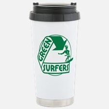 Green Surfers Stainless Steel Travel Mug