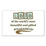 Lolo of Gifted Grandchildren Rectangle Sticker