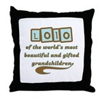 Lolo of Gifted Grandchildren Throw Pillow