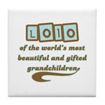 Lolo of Gifted Grandchildren Tile Coaster