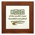 Lolo of Gifted Grandchildren Framed Tile