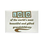 Lolo of Gifted Grandchildren Rectangle Magnet (10