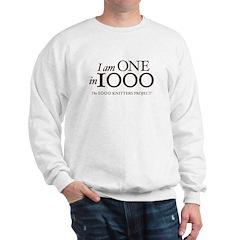 One in 1000 (Version One) Sweatshirt