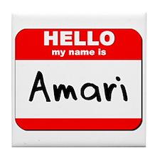 Hello my name is Amari Tile Coaster