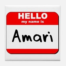 Hello my name is Amari Tile Coaster