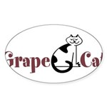Grape Cat Sticker (Oval 10 pk)