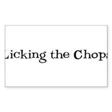Licking the Chops Rectangle Sticker 10 pk)
