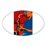 Plumbing Oval Sticker (10 pk)