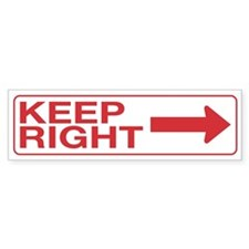 Keep Right Bumper Sticker (50 pk)