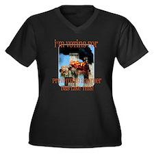 9-11 Women's Plus Size V-Neck Dark T-Shirt