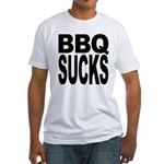 BBQ Sucks Fitted T-Shirt