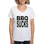 BBQ Sucks Women's V-Neck T-Shirt