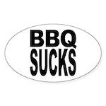 BBQ Sucks Oval Sticker