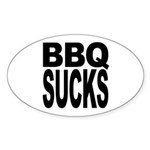 BBQ Sucks Oval Sticker (10 pk)