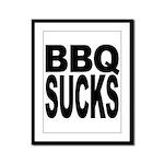BBQ Sucks Framed Panel Print