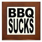 BBQ Sucks Framed Tile