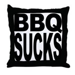BBQ Sucks Throw Pillow