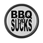 BBQ Sucks Large Wall Clock