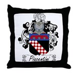 Piacentini Family Crest Throw Pillow