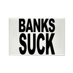 Banks Suck Rectangle Magnet