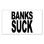Banks Suck Rectangle Sticker