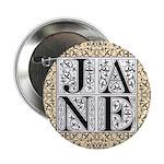 Jane Austen JANE Button