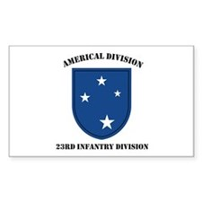 Americal Division 23rd Infant Rectangle Decal