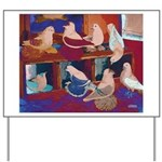 Impressionist Swallows Yard Sign
