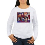 Impressionist Swallows Women's Long Sleeve T-Shirt