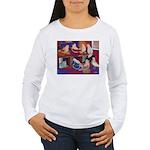 Impressionist Swallows Women's Long Sleeve T-Shirt
