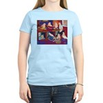 Impressionist Swallows Women's Light T-Shirt
