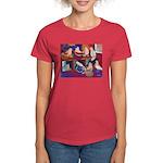 Impressionist Swallows Women's Dark T-Shirt