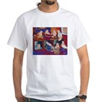 Impressionist Swallows White T-Shirt
