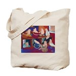Impressionist Swallows Tote Bag