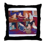 Impressionist Swallows Throw Pillow