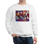 Impressionist Swallows Sweatshirt