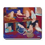 Impressionist Swallows Mousepad