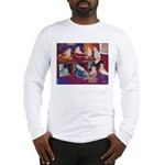 Impressionist Swallows Long Sleeve T-Shirt