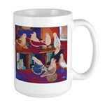 Impressionist Swallows Large Mug
