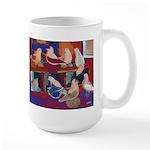 Impressionist Swallows Large Mug