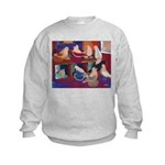Impressionist Swallows Kids Sweatshirt