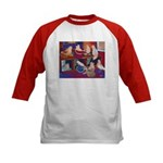 Impressionist Swallows Kids Baseball Jersey