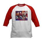 Impressionist Swallows Kids Baseball Jersey