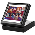 Impressionist Swallows Keepsake Box