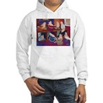 Impressionist Swallows Hooded Sweatshirt